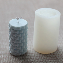 Candle Mold Silicone Bee Honeycomb Cylindrical Candle Mould 3D DIY Geometric Mould Decoration For Soap Ice Creams Chocalate
