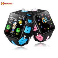 Reloj inteligente impermeable para niños y estudiantes, pulsera con GPS LBS, rastreador de ubicación, cámara remota, soporte de Monitor, tarjeta TF, teléfono
