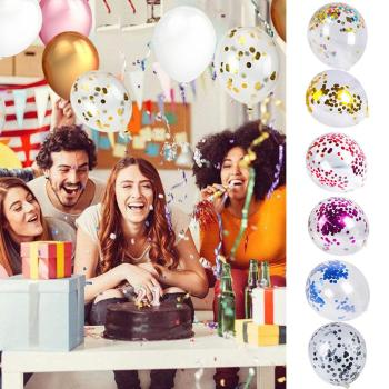 20pcs Love Aluminum Fil Balloons Package Metal Sequin Latex Balloon Combination Wedding Event Pparty Supplies Birthday De image
