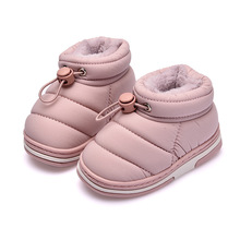 Children Slippers Fashion Girls Baby Boy Shoes Down-Jacket Materials Warm Winter Kids Home Footwears Plush Garden Russian Style