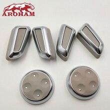 6 unids/set negro/gris/Beige ABS cromo ajuste de asiento botón interruptor para Audi A4 A4L A5 A6 A6L A7 Q5 Q3 Accesorios