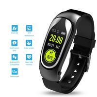 Pulseira de fitness Banda Inteligente fone de Ouvido Bluetooth Chamada Resposta Caminhada Correr Pulseira Inteligente com Fones De Ouvido para Xiaomi Huawei Telefone Inteligente|Pulseiras inteligentes| |  -