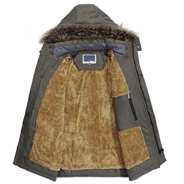 Winter Jacket Men Plus Size 5XL 6XL Cotton Padded Warm Parka Coat Casual Faux Fur Hooded Fleece Long Male Jacket Windbreaker Men 5