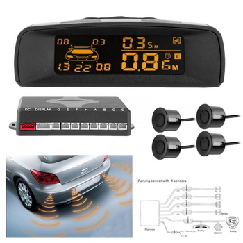 цена на Auto Car Parking Sensor Full Digital Distance Display Reversing Radar LCD Car Parking Radar Monitor Detector System Display