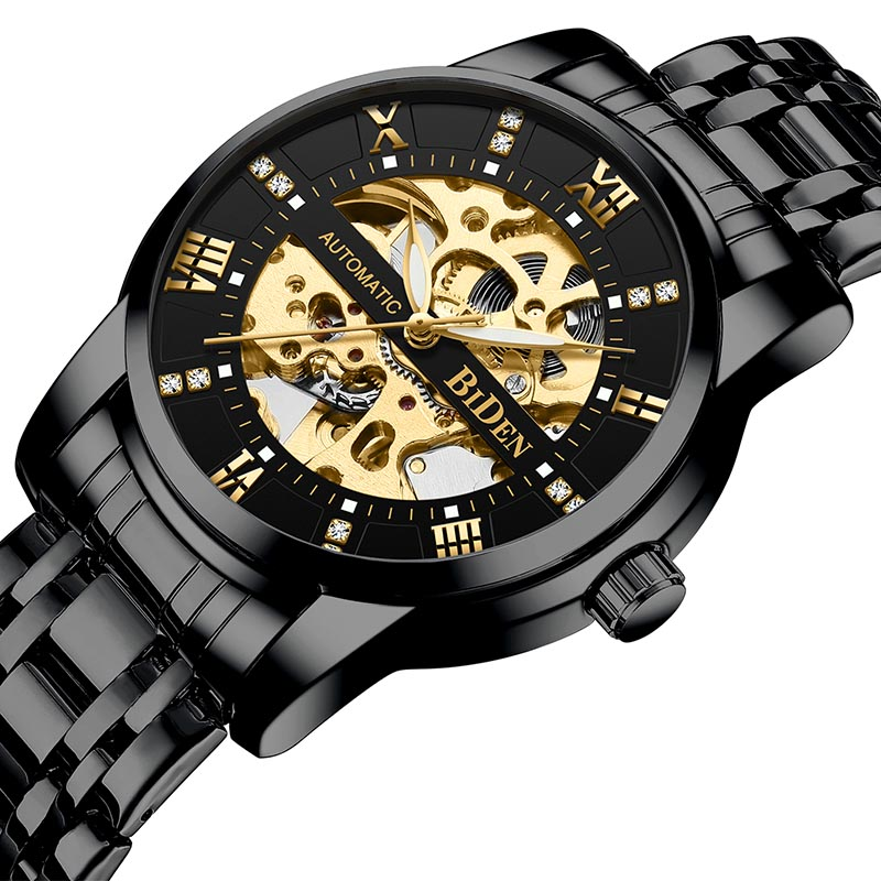 Watch Men Skeleton Automatic Mechanical Watch Gold Skeleton Vintage Man Watch Mens Watch Top Brand Luxury