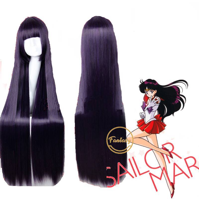 Sailor Moon Saturn Hotaru Cosplay Wig  Hair party  Halloween anime+Wig Cap