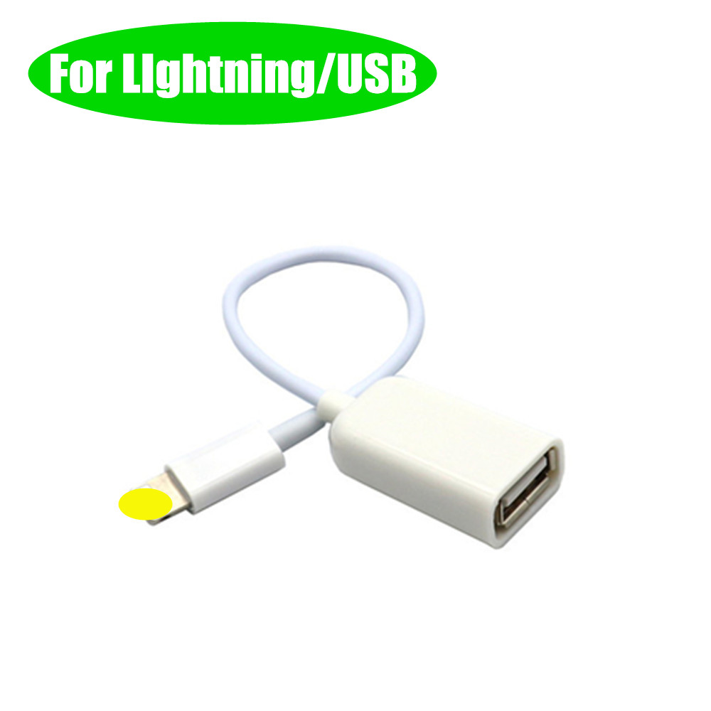 OTG Adapter For Lightning To USB Female Converter Cable Tablet Phone To Camera For Iphone 6 7 8 Plus X Xr IOS9.2-IOS10.3 Only