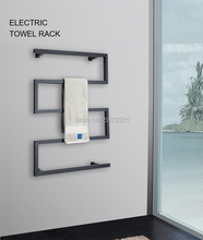 Bow shaped Electric bath towel warmer 304 stainless steel shower room heated towel warmer bathroom towel warmer rack