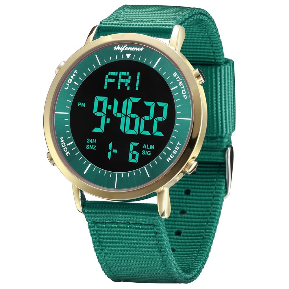 Couple Clock Sport Digital LED Waterproof Wrist Watch Couple Analog Digital Military Army Stylish Couple Electronic Watch Clock