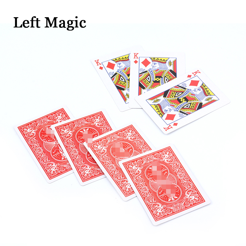 Kings Wild Card Set Magic Tricks No-Worded Wordless Book - Magic Trick Close Up Accessories Stage Illusions Comedy