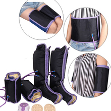 Electric Air Compression Leg Massager Slimming Legs Foot Massager Heating Sauna Belt Relax For Body Foot Ankles Calf Therapy 2017 new xiaomi ecological brand pma smart graphene therapy heating waist belt super light anti scald body heater massager