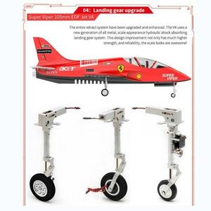 Image 2 - HSD RC 1.6M Jet 105MM EDF Super Viper V4 12S 160A avion PNP modèle hydraulique TH06108