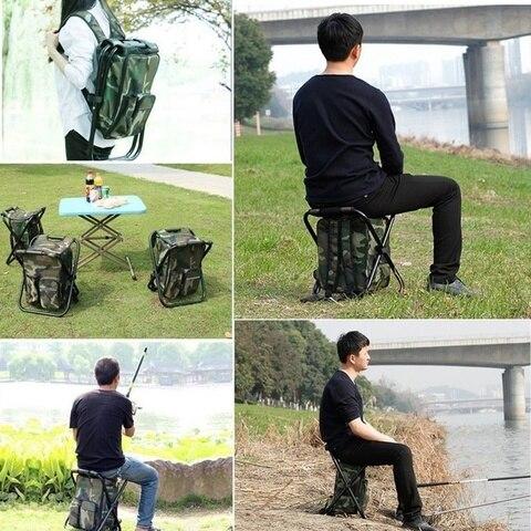 pano saco refrigerado camuflagem cadeira pesca