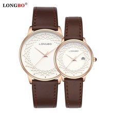LONGBO 2 PCS Couple Watches Men Watch Women Leather Steel Fashion Pair Watches Clock reloj hombre reloj mujer montre 2020 New
