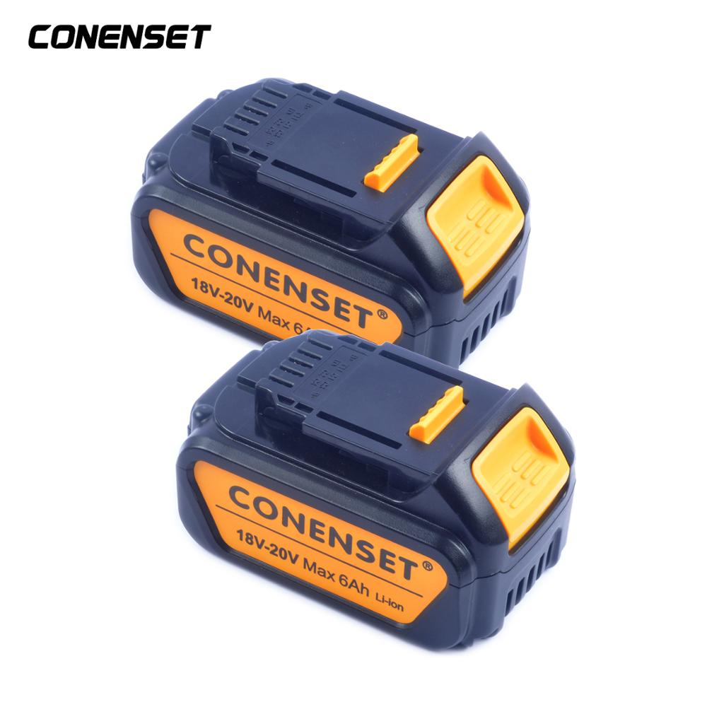 20V <font><b>6000mAh</b></font> Lithium Ion Replacement Power Tool <font><b>Battery</b></font> for Dewalt MaxXR DCD985B DCD771C2 DCS355D1 DCD790B Cordless Power Tools image