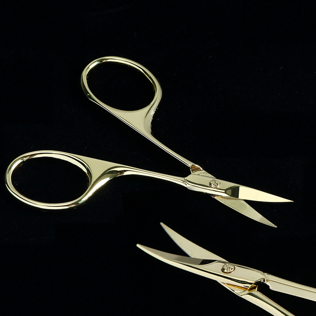 Nail Scissors Curved Round Sewing Crane Stainless Steel Cuticle Cutter Eyebrow Scissors Manicure Trimmer Nail Makeup Tool CH1519 4