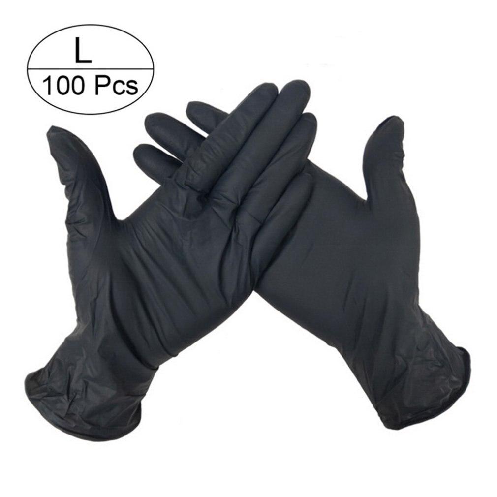 100pcs Disposable Nitrile Gloves  Examination  Nitrile Gloves Food Grade Disposable  Working Gloves  White