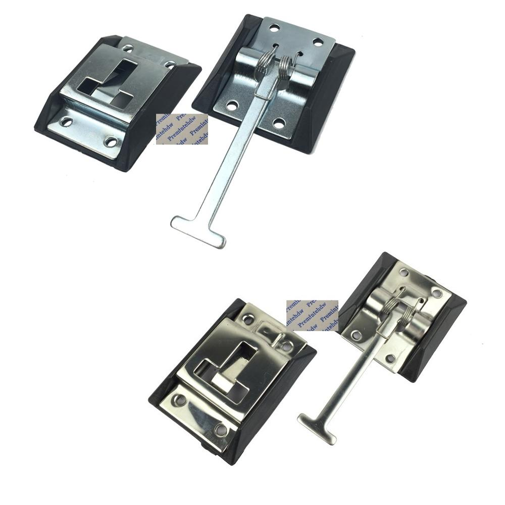 2Pcs/Lot T Shape Truck Van Trailer Spring Loaded Door Latch Catch  Holder Stop Iron 304 Stainless Steel