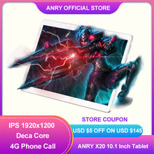 ANRY Tablet 10 Zoll MTK6797T X25 Android 8,1 8000mAh 1920*1200 Deca Core Wifi GPS 4G Telefon call Tablet 10 ES RU In lager
