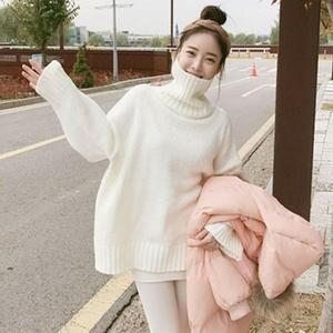 No pilling and thickening new sweater women early autumn loose spring and winter high collar oversized hoodie
