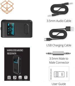 Image 5 - Auto ON Bluetooth 5.0 odbiornik wyświetlacz LCD 3.5mm AUX Jack RCA muzyka Stereo Adapter bezprzewodowy do głośnika samochodowy sprzęt Audio nadajnik