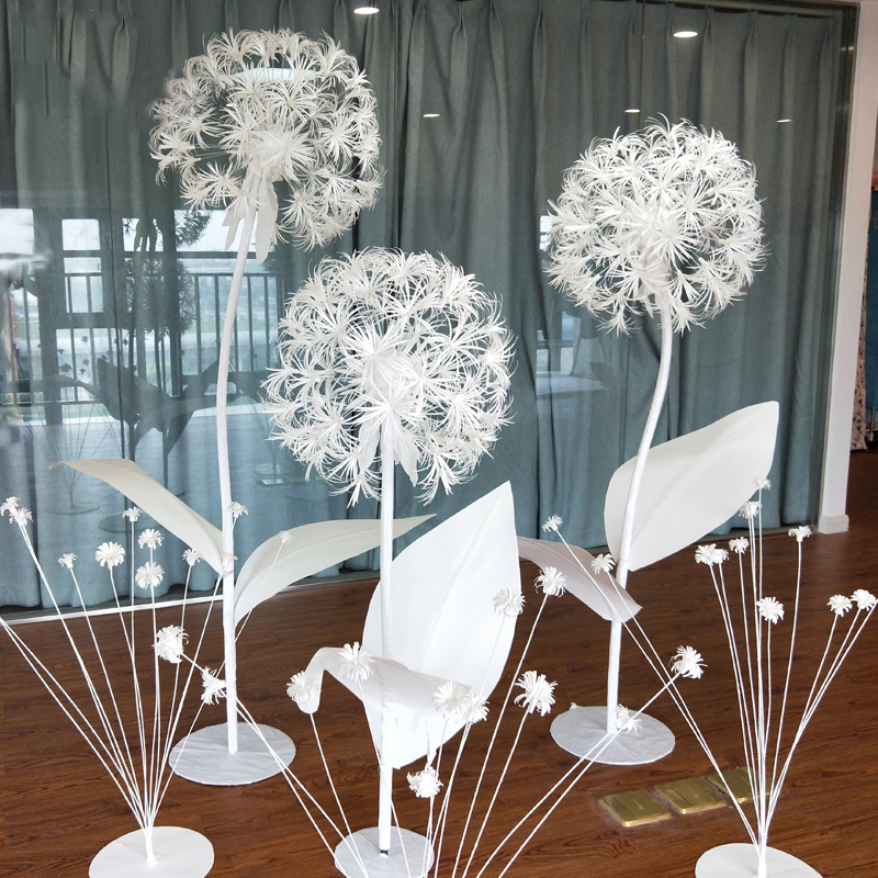 Large  DIY Artificial Paper Flowers Dandelion Fake Flowers Wedding Decoration Window Decoration Wedding Road Background Layout