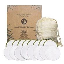 Tampons de coton réutilisables, 20 pièces, lingettes nettoyantes pour le visage, ensembles démaquillants, lavables, Protection de l'environnement avec sac à linge