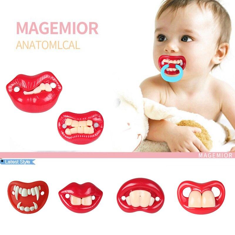 Baby Christmas Teeth Dummy Kids Siliconer Pacifier Care Infant Funny Joke  Cute Prank Children Orthodontic Nipples Teething