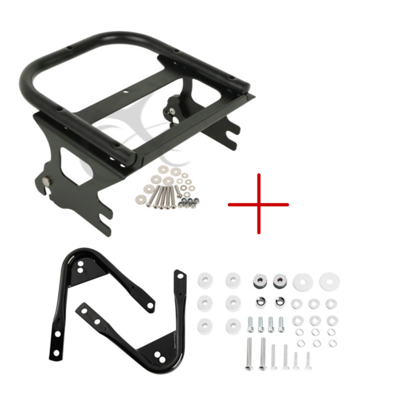 Two-up Tour Pack Luggage Rack &Docking Hardware Kit For Harley Touring Electra Street Glide Road King FLTR FLHX 97-08