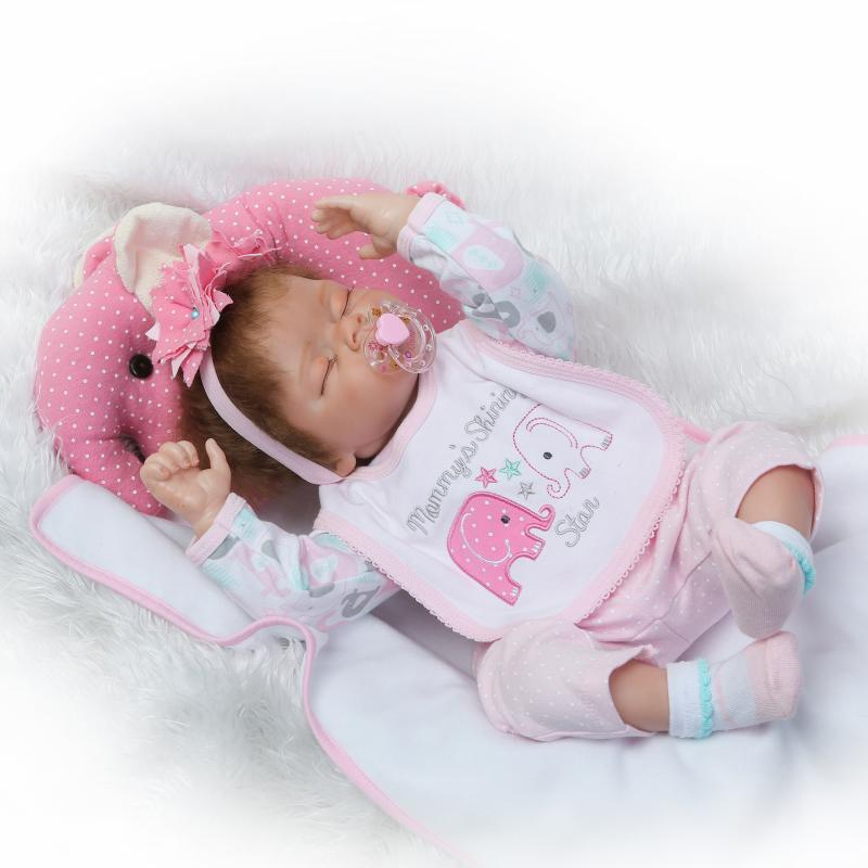 NPK Model Soft Silcone Cloth Body Rebirth Infant Doll Hot Selling Recommended GIRL'S Toy