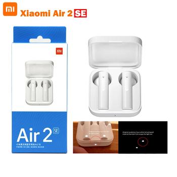 Oryginalny Xiaomi Air 2 SE TWS bezprzewodowy zestaw słuchawkowy Bluetooth 5 0 AirDots 2SE Bass słuchawki douszne Air Pro 2 SE 20 godzin bateria dotykowa tanie i dobre opinie Proso tłokowe Zaczep na ucho Dynamiczny CN (pochodzenie) Prawda bezprzewodowe 120dB 43mW Monitor Słuchawkowe Do Gier Wideo