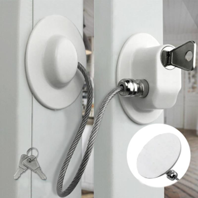 2 Pcs/lot Child Protection Window Lock Baby Safety Castle Child Locks Protection For Windows From Children Window Door Stop Lock