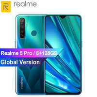 """Global Version Realme 5 Pro 6.3"""" Smartphone Android 9.0 Snapdragon 712A IE Mobile Phone 8GB 128GB 48MP AI Camera 20W Fast Charge"""