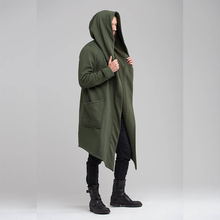 2020 Men's Jacket Solid Color Hooded Cardigan Shirt Mens Trench Coat Jacket Long