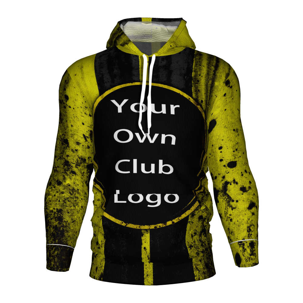 Borussia Dortmund Sepak Bola Jersey 2018 2019 Sepak Bola 3D Hoodie Pakaian Latihan Yg Hangat Dortmund Training Kit Borussia Dortmund Anak-anak Sweatshirt