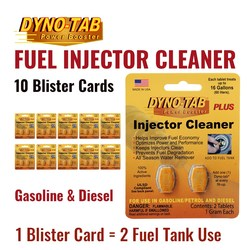 Dyno Tab Of the Fuel Injector Cleaner Petrol Gasoline & Diesel Fuel Economy Saver Carbon Cleaner (10 Blister Cards)