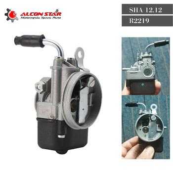 Alconstar 12mm SHA gaźnik do PIAGGIO Ciao PX FL VESPA motorower kieszonkowy SHA 12 12 DELLORTO Carb do Vespa Piaggio Kinetic tanie i dobre opinie CN (pochodzenie) Aluminum alloy 320g Carburetor SHA 12 12 R2219 4 5cm Iso9001 L-606 10 7cm SCL-2020080012