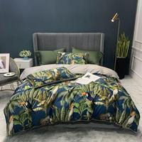 Algodão egípcio capa de edredão macio cabido/folha cama conjunto flamingo paisley conjunto cama família gêmeo rainha rei tamanho 4 peças