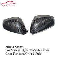 Spiegel Abdeckung Carbon Fiber Hinzufügen auf Stil für Maserati Quattroporte Limousine 2007-2013 & Gran Turismo & Gran Cabrio seite Tür Kappen