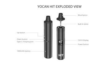Yocan – vaporisateur pour herbes sèches, batterie 1400mAh, chambre chauffante en céramique, charge de Type C rapide, vs IShred