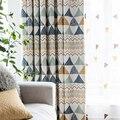 Модные геометрические Заказные занавески  современные шторы для гостиной  спальни  затенение  скандинавский день  тип 089 & 30