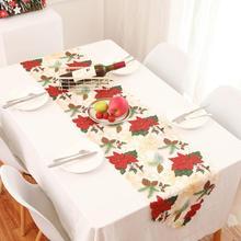 купить 35*178CM Christmas Table Runner Mat Tablecloth Christmas Table mat  Flag Home Party Decorative Santa Claus  table decorations онлайн