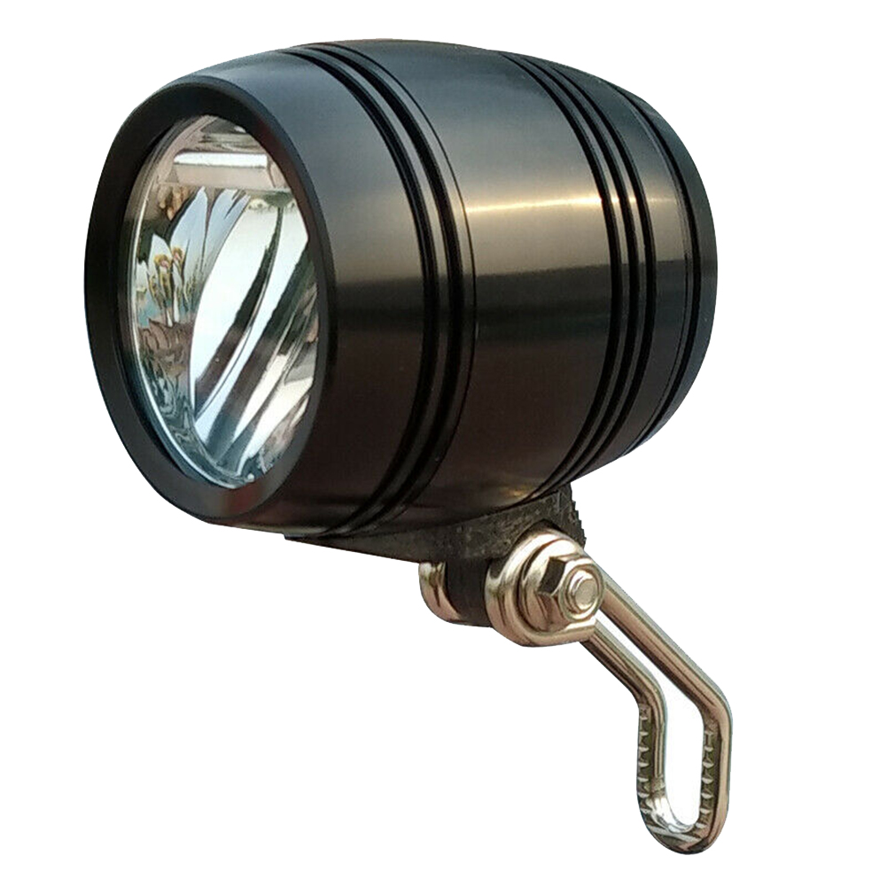 2-in-1 LED Bike Front Head Light Horn Aluminum Casing Electric Scooter Headlights  _WK