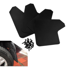 Car Wheel Mudguard MF12-BAS-BLK4 Pack Mud Flaps Splash Guards Poly-blend Plastic Flap Fenders