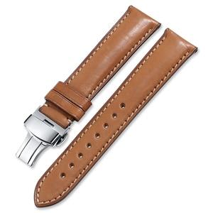 Image 5 - CHIMAERA Watch Band Quick Release Leather Strap 16mm 18mm 19mm 20mm 22mm 24mm Men Women Bracelet Butterfly Deployment Buckle