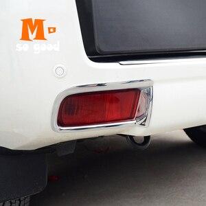 Image 5 - Dekoracyjne wykończenie pokrywy akcesoria ABS 2 sztuk Chrome dla Toyota Land Cruiser Prado 150 FJ 150 2010 2017 tylne światło przeciwmgielne rama lampy