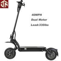 10 polegadas fora de estrada pneu scooter elétrico dobrável 52 v 23ah duplo motor 2000 w poderoso kick e scooters adulto bicicleta elétrica|Scooters elétricos| |  -