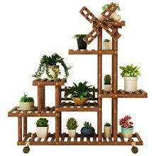 Massivholz Blume Airs Becken Multi-stöckige Landung Typ Schmücken Zimmer