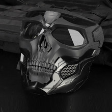 Tactical Paintball Skull Masks Outdoor Breathable Hunting Shooting Skull Mask Military Full Face Safety Airsoft Paintball Masks(China)