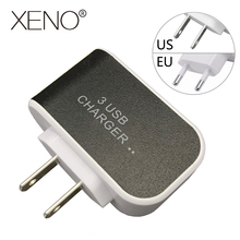 3 ports USB Mobile Phone Charger EU plug/US plug 5V 2A Quick Charge Universal Travel portable Fast Charging Mobile Phone Charger usb charger eu us plug 3 ports quick charge fast charging mobile phone charger for iphone x samsung xiaomi huawei travel charger